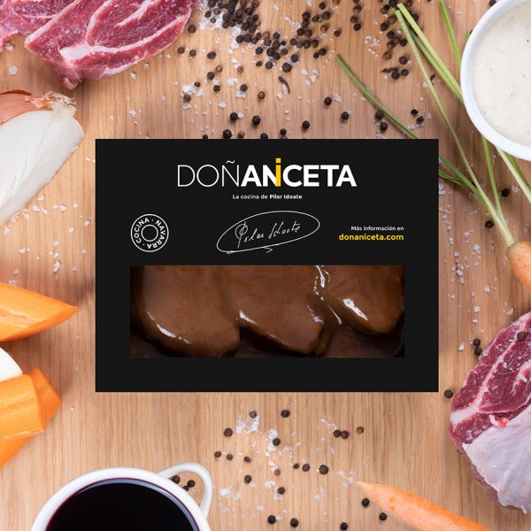 Carrilleras de ternera al vino tinto : Doñaniceta