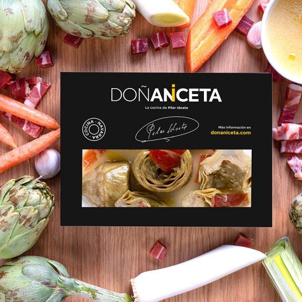 Alcachofas con Jamón : Doñaniceta