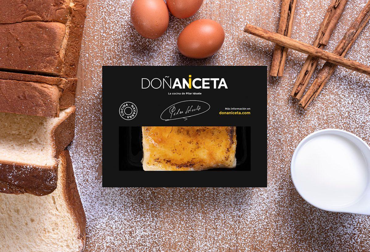 Torrija de pan brioche : Doñaniceta