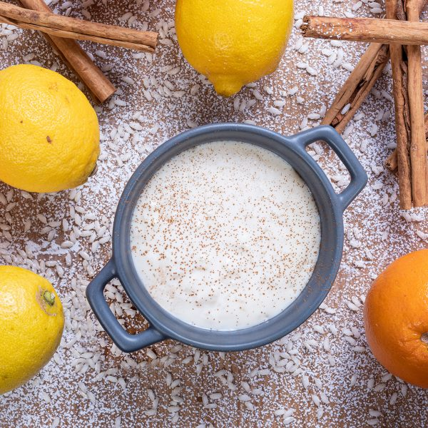 Arroz con leche con aromas cítricos : Doñaniceta